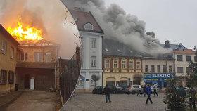 Požár ve Dvoře Králové