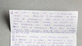 David Rath odepsal redakci Blesk Zpráv z teplické věznice na 28 otázek. Dopis psal ručně, odpověď přišla do tří týdnů.