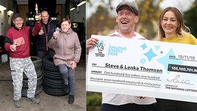 Lenka s manželem vyhráli 3 miliardy v loterii. Rodina na Slovensku příbuzné výhru přeje