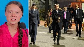 Premiér Babiš se ráno 2.12.2019 vydal do Madridu na klimatickou konferenci, kam míří i Greta Thunbergová