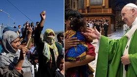 Vatikán přiveze z Řecka 43 uprchlíků. Papež bere do Říma i celé rodiny.