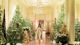 Do Bílého domu nechali přivézt hned 29 menších stromků.