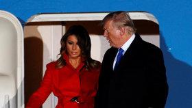 Přílet prezidenta USA Donalda Trumpa na summit NATO do Londýna. Doprovodila ho manželka Melania. (2.12.2019)