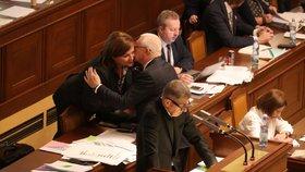 Premiér Andrej Babiš (ANO) ve Sněmovně během jednání o rozpočtu - předvedl se s tříhodinovým projevem (4. 12. 2019)