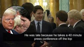 """""""Je falešný!"""" řekl Trump o kanadském premiérovi. S Macronem si z něj dělali legraci"""
