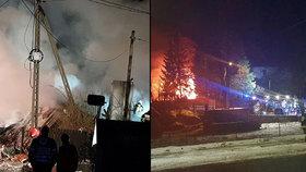 Výbuch plynu v obci Szczyrk srovnal dům se zemí.