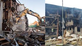 V Lenoře začala demolice domu zdevastovaného výbuchem plynu