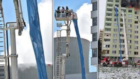 Dramatická záchrana na Slovensku: Lidi z balkónů posílali k zemi rukávem!