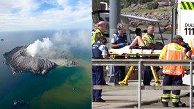 Erupce novozélandské sopky si vyžádala nejméně jednoho mrtvého a desítky zraněných, (9.12.2019).