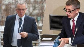 Miroslav Kalousek na sněmu TOP 09, Andrej Babiš na Úřadu vlády, kam vyrazil v pondělí 9.12.