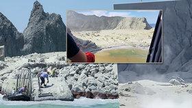 Záchranná akce po erupci novozélandské sopky.