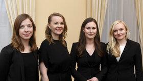 Finská vláda žen: ministryně školství Li Anderssonová (32), ministryně financí Katri Kulmuniová (32), premiérka Sanna Marinová (34) a ministryně vnitra Maria Ohisalová (34)