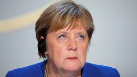 Angela Merkelová na summitu ke krizi na Ukrajině (10.12.2019)