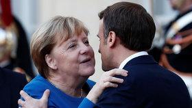 Angela Merkelová na summitu ke krizi na Ukrajině s Emmanuelem Macronem (10.12.2019)