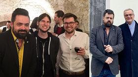 Pavel Novotný s Piráty Pikalem a Michálkem na jejich večírku. A s Miroslavem Kalouskem v Řeporyjích