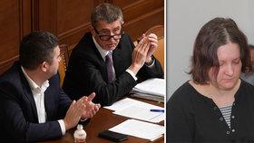 Těhotná vražedkyně Janáková pohnula s vládou: Možná zpřísní podmínky pro těhotně vězeňkyně.