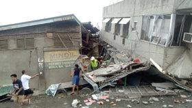 Filipínský ostrov Mindanao postihlo zemětřesení (15.12.2019)