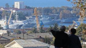 Pohled na krymský přístav Sevastopol