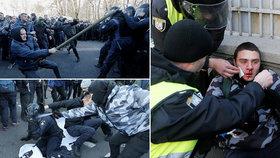 U parlamentu v Kyjevě se poprali policisté s nacionalisty.