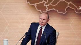 Ruský prezident Vladimir Putin na výroční tiskové konferenci (19. 12. 2019)