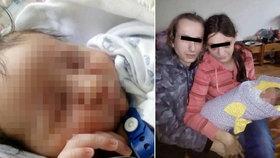 Novorozenec Péťa (vlevo) zemřel na předávkování kodeinem. Na fotografii vpravo jeho starší sourozenec.
