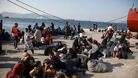 Uprchlíci na řeckém ostrově Samos