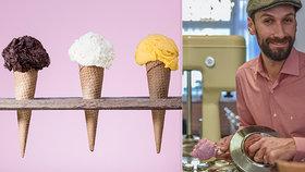 Honza Hochsteiger vyrábí zmrzlinu a rád při tom experimentuje