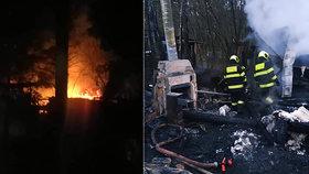U Milevska shořela budova, kde měl policejní psovod své vybavení a psy.