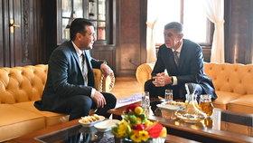 Severomakedonský premiér Zoran Zaev a jeho český protějšek Andrej Babiš (ANO) na návštěvě v Praze (17. 12. 2019)