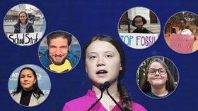 Aktivistka Greta Thunbergová a její následovníci.