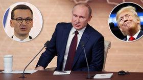 Putin děkoval Trumpovi za odvrácení teroru, od Poláků to schytal za Hitlera.