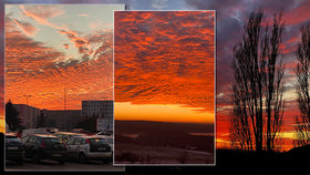Nebe nad Českem se zabarvilo do červena (31. 12. 2019)