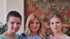 Slovenská prezidenta Zuzana Čaputová s dcerami (31. 12. 2019)