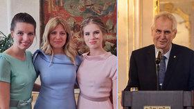 Zuzana Čaputová na Silvestra 2019 sdílela foto s dcerami Emmou a Leou, Miloš Zeman vyrazil slavit s rodinou do Lán
