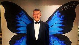 """Andrej Babiš a jeho silvestrovský pozdrav: """"Máte rádi motýle?"""" tázal se premiér"""