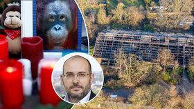 Tragický požár pavilonu opic v německém Krefeldu.