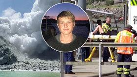Přeživší erupce sopky na novozélandském ostrově White Island Jake Milbank (19) poděkoval záchranářům.
