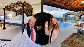 """Johnson s """"vydřičkou"""" strávili přelom roku v Karibiku"""