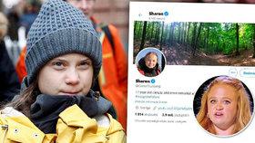 """Greta se pojmenovala na twitteru """"Sharon"""". Nové jméno """"získala"""" od britské soutěžící"""