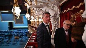 Andrej Babiš na znovuotevření Státní opery v Praze (5.1.2020)