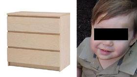 Malého Jozífka (†2) zabila skříň z Ikey! Firma souhlasila s astronomickým odškodným pro rodiče.