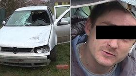Řidiče zranil kus ledu, který na něj spadl z náklaďáku, který jel před ním.