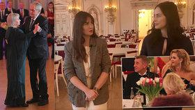 O zákulisí hradního plesu zpovídala manželka hradního kancléře Alex Mynářová dceru prezidentského páru Kateřinu Zemanovou (leden 2020)