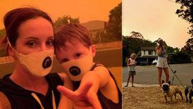 Všude je popel, to nejhorší teprve přijde, říká Češka ze Sydney