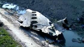 Foto, které má dokazovat, že bylo letadlo sestřeleno nad Íránem