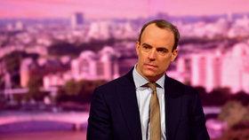 Britský ministr zahraničí Dominic Raab.