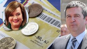 Hamáček se pře se Schillerovou o stravenky. Superhrubou mzdu nechce opozice.