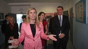 Poslankyně a někdejší ministryně školství Kateřina Valachová (ČSSD) s Andrejem Babišem (ANO)