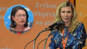 Poslankyně a exministryně školství Kateřina Valachová (ČSSD) novou ombudsmankou? Ve Sněmovně to nebude mít snadné. Proti je třeba poslankyně ODS Miroslava Němcová.