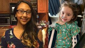 V USA řádí smrtící chřipka. Vyžádala si životy už 32 dětí. Liliana (vlevo) na ni zemřela, Jade po ní oslepla.